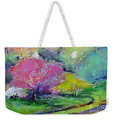 Highland Park In Spring Weekender Tote Bag