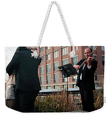 Weekender Tote Bag featuring the photograph Highline Serenade by Madeline Ellis