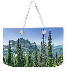 Highline Trail Panoramic - Glacier National Park Weekender Tote Bag