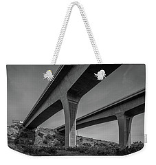 Highway 52 Over Spring Canyon, Black And White Weekender Tote Bag