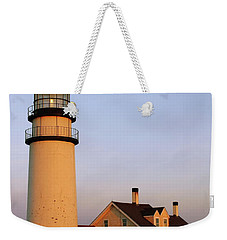 Weekender Tote Bag featuring the photograph Higland Lighthouse Cape Cod by Roupen  Baker