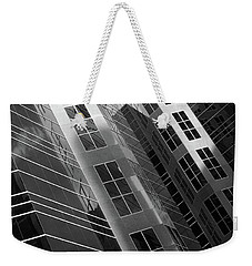 Weekender Tote Bag featuring the photograph Higrise Windows by David Pantuso