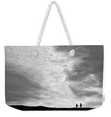 Hikers Under The Clouds Weekender Tote Bag