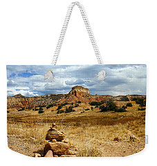 Weekender Tote Bag featuring the photograph Hiking Ghost Ranch New Mexico by Kurt Van Wagner