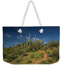 Hiking In Springtime Weekender Tote Bag by Sue Cullumber