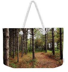 Hiking In Whitetail Woods Weekender Tote Bag by Jimmy Ostgard