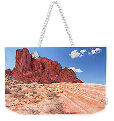 Hiking To The Fire Wave Weekender Tote Bag