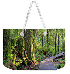 Hiking Trail Through Forest In Lynn Canyon Park Weekender Tote Bag