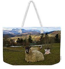 Hill Sheep Weekender Tote Bag by RKAB Works