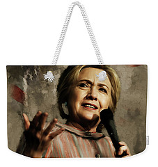 Hillary Clinton 02 Weekender Tote Bag by Gull G