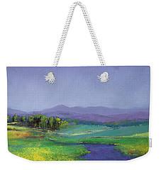 Hills In Bloom Weekender Tote Bag by David Patterson