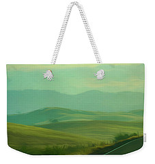 Hills In The Early Morning Light Digital Impressionist Art Weekender Tote Bag