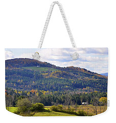 Weekender Tote Bag featuring the photograph Hills Of Vermont by Corinne Rhode
