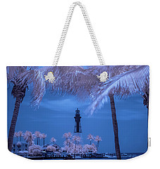 Hillsboro Inlet Lighthouse Infrared Weekender Tote Bag by Louis Ferreira
