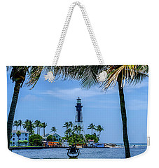 Hillsboro Inlet Lighthouse Weekender Tote Bag by Louis Ferreira