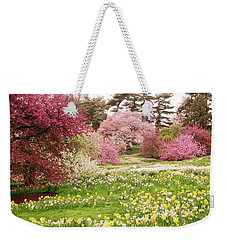 Weekender Tote Bag featuring the photograph Hillside Bloom by Jessica Jenney