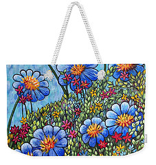 Hillside Blues Weekender Tote Bag by Holly Carmichael