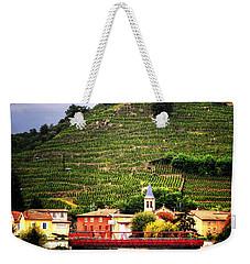 Weekender Tote Bag featuring the photograph Hillside Vineyard France by Tom Prendergast