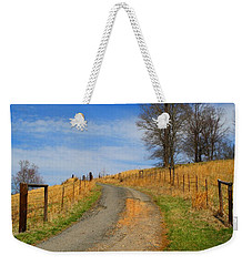 Hilltop Driveway Weekender Tote Bag by Kathryn Meyer