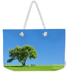 Weekender Tote Bag featuring the photograph Hilltop Picnic by Alan L Graham