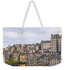 Hilly Skyline Of Edinburgh Weekender Tote Bag