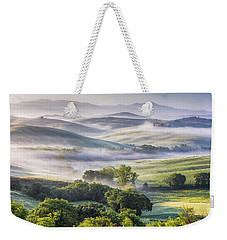 Hilly Tuscany Valley At Morning Weekender Tote Bag