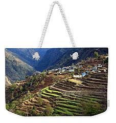 Himalayan Terraced Fields Weekender Tote Bag