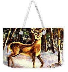Weekender Tote Bag featuring the painting Hinds Feet by Hazel Holland