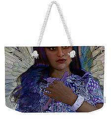 Weekender Tote Bag featuring the painting Hindustani Angel by Suzanne Silvir