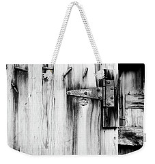Hinged In Black And White Weekender Tote Bag