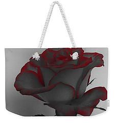 Hints Of Red- Single Rose Weekender Tote Bag