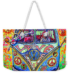 Hippie Weekender Tote Bag by Viktor Lazarev