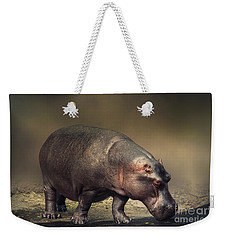 Weekender Tote Bag featuring the photograph Hippo by Charuhas Images