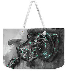 Hippo Love Monochrome Weekender Tote Bag