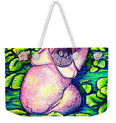 Hippo Weekender Tote Bag by Viktor Lazarev