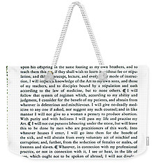 Hippocratic Oath, 1938 Weekender Tote Bag by Science Source