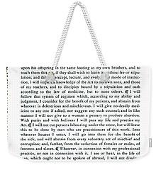 Hippocratic Oath, 1938 Weekender Tote Bag