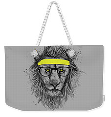 Hipster Lion Weekender Tote Bag