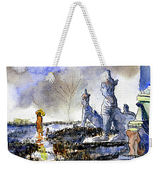 His And Hers Temples Weekender Tote Bag by Randy Sprout