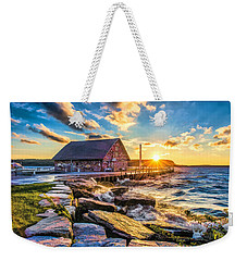 Historic Anderson Dock In Ephraim Door County Weekender Tote Bag