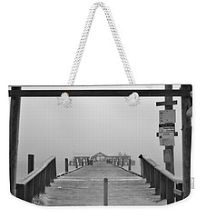Historic Anna Maria City Pier In Fog Infrared 52 Weekender Tote Bag