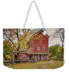 Weekender Tote Bag featuring the photograph Historic Bowens Mills by Susan Rissi Tregoning