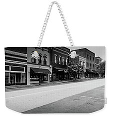 Weekender Tote Bag featuring the photograph Historic Buford Downtown Area by Doug Camara