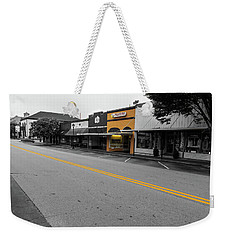 Weekender Tote Bag featuring the photograph Historic Buford In Selective Color by Doug Camara