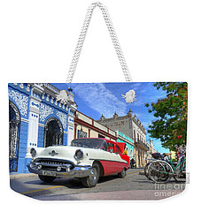 Historic Camaguey Cuba Prints The Cars Weekender Tote Bag