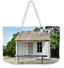 Weekender Tote Bag featuring the photograph Historic Clint's Cabin by Ray Shrewsberry