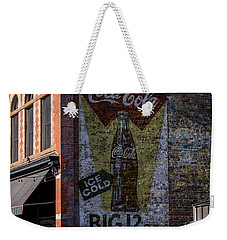 Weekender Tote Bag featuring the photograph Historic Coca Cola Brick Ad - Fort Collins - Colorado by Gary Whitton