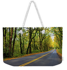 Historic Columbia River Highway In Fall Weekender Tote Bag
