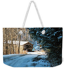 Historic Grist Mill Covered Bridge Weekender Tote Bag