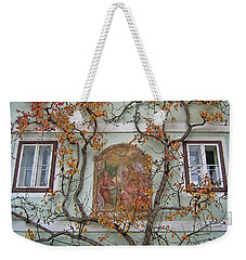 Historic House Facade In Bad Goisern Hallstatt Salzkammergut Aus Weekender Tote Bag by Menega Sabidussi